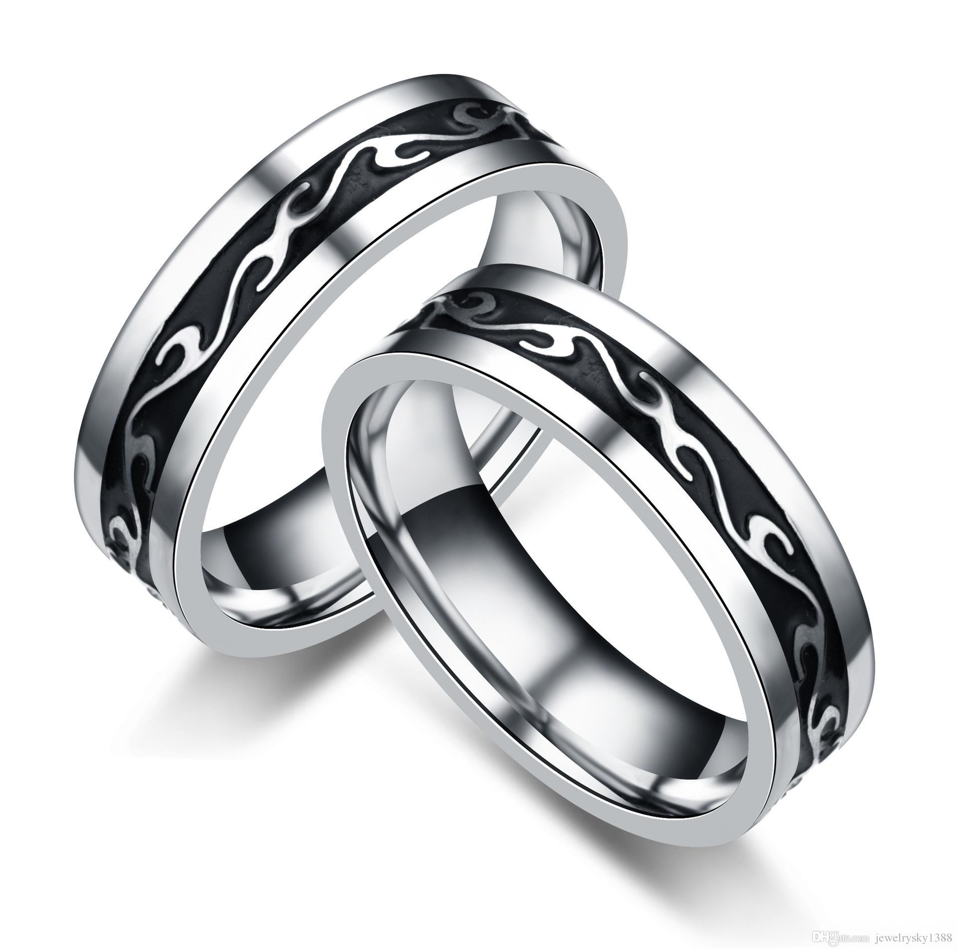 Newest Design Titanium Steel Rings Fashion Stainless Steel Men's Dragon Pattern Rings Wedding Bands for Men jewelry