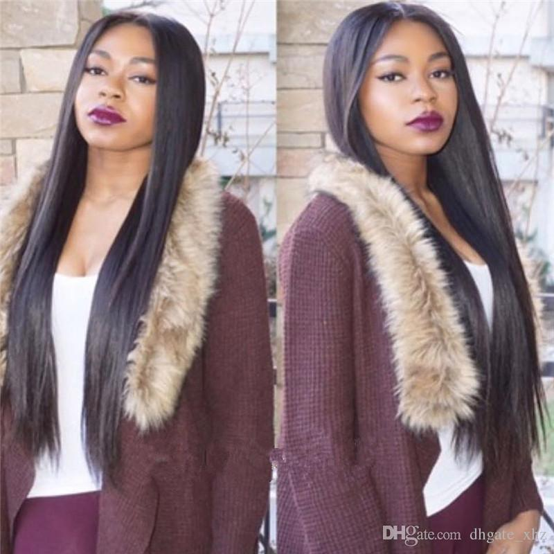 130-180% High Density Glueless Full Lace Wigs Human Hair Straight Brazilian Full Lace Wigs For Black Women With Natural Hairline