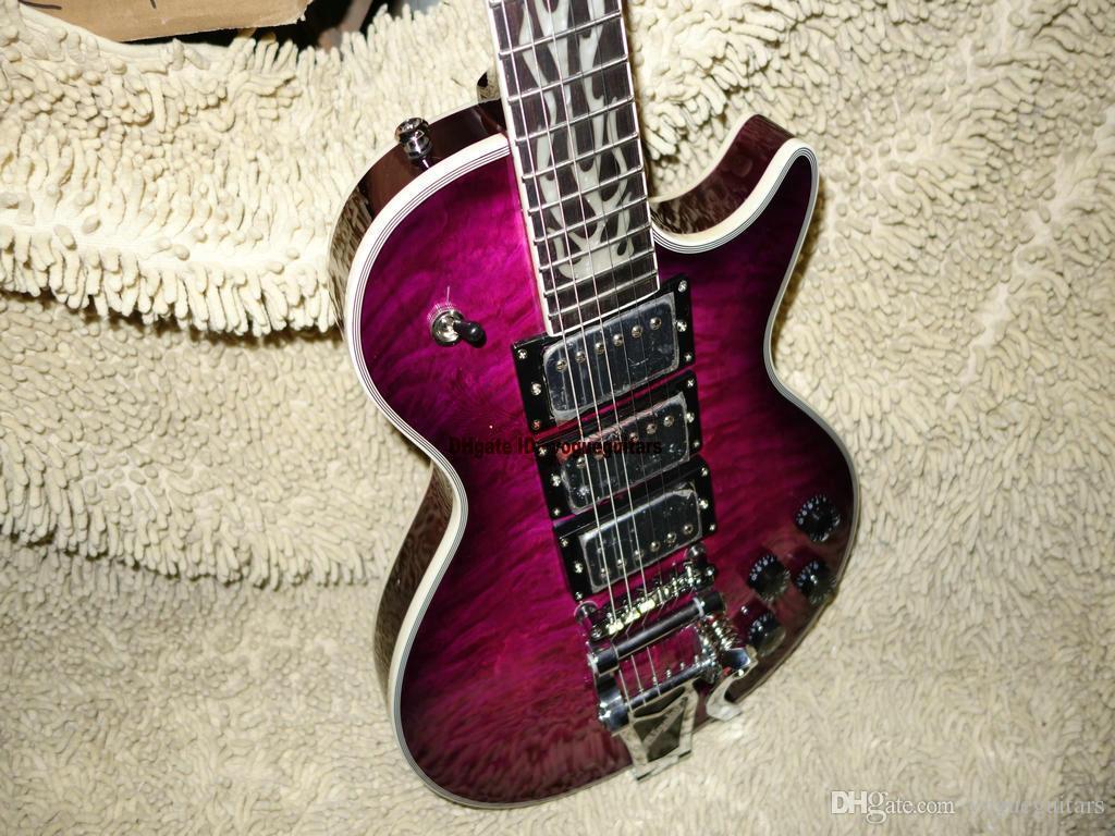 Custom Shop Gitarren lila E-Gitarre mit Tremolo-System versandkostenfrei