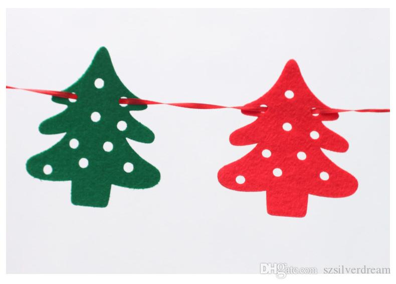 2016 Noël 2.2m Drapeaux en couleur Maison de fête Arbre Décorations décoratives Adorable Deer Décorations de Noël Livraison gratuite