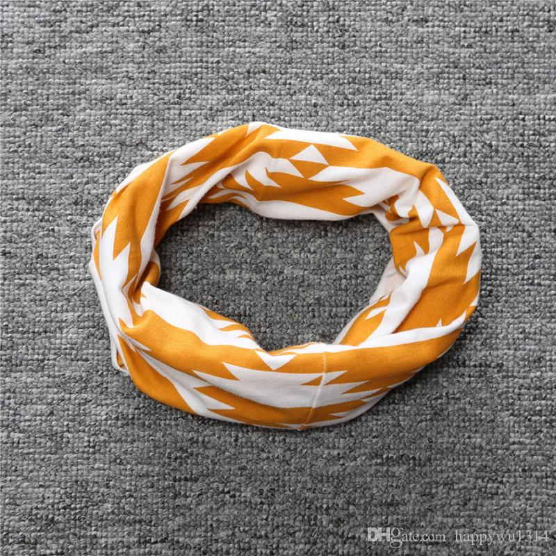 Cute Baby Boys Girls Scarf Autumn Winter O Ring Printed Neckerchief Animal Geometric Scarves For Kids Baby Fall Muffler Accessories New