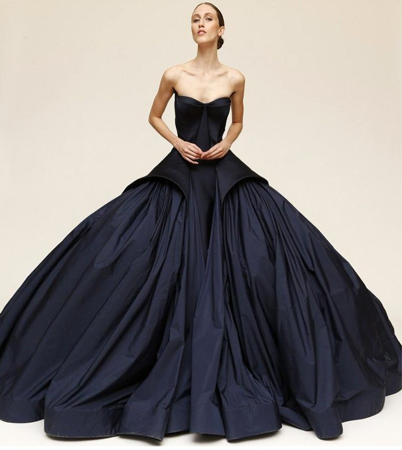 Black Ball Gown Celebrity Evening Dresses Sweetheart Formal Prom Dresses Evening Gown Zac Posen ...