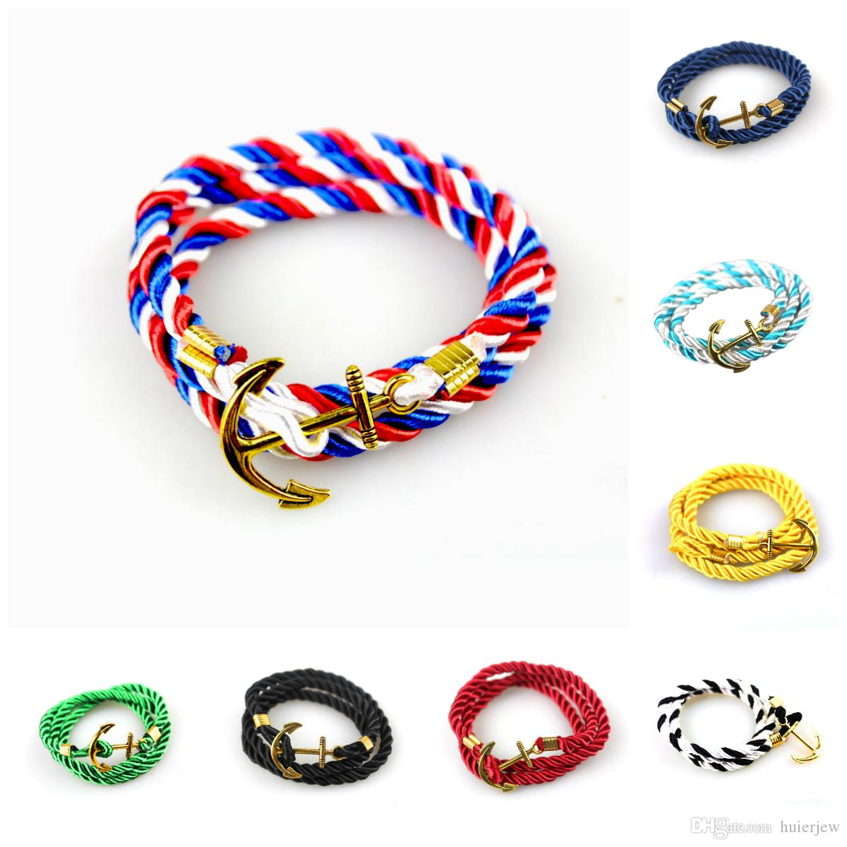 and bracelet nh anchor navy nautical product horizon gold white