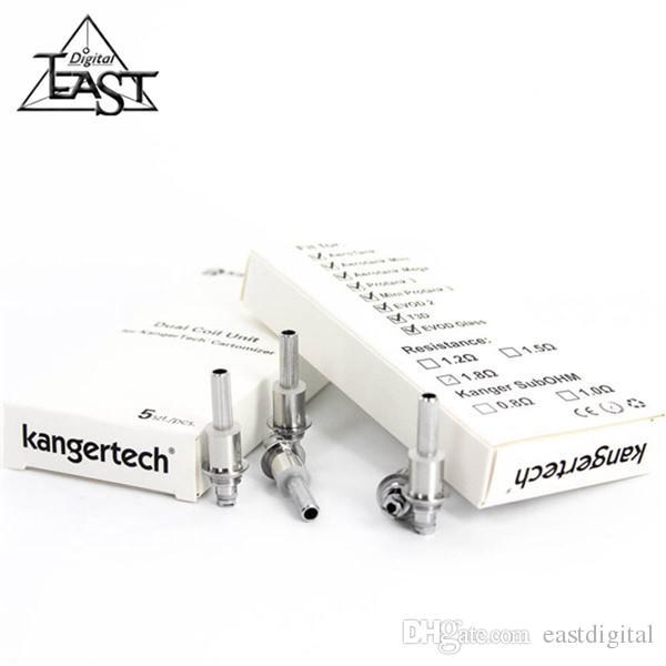 100% originale kanger protank 3 testine a doppia testa di ricambio a doppia bobina kangertech aerotank mega atomizzatori a doppia bobina T3D EVOD 2