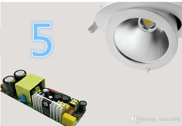 Fabrik Großhandel 30W LED Trunk Down COB Deckenleuchte Verstellbare Einbau super helle Innenraumbeleuchtung cob LED-Downlight AC85-265V
