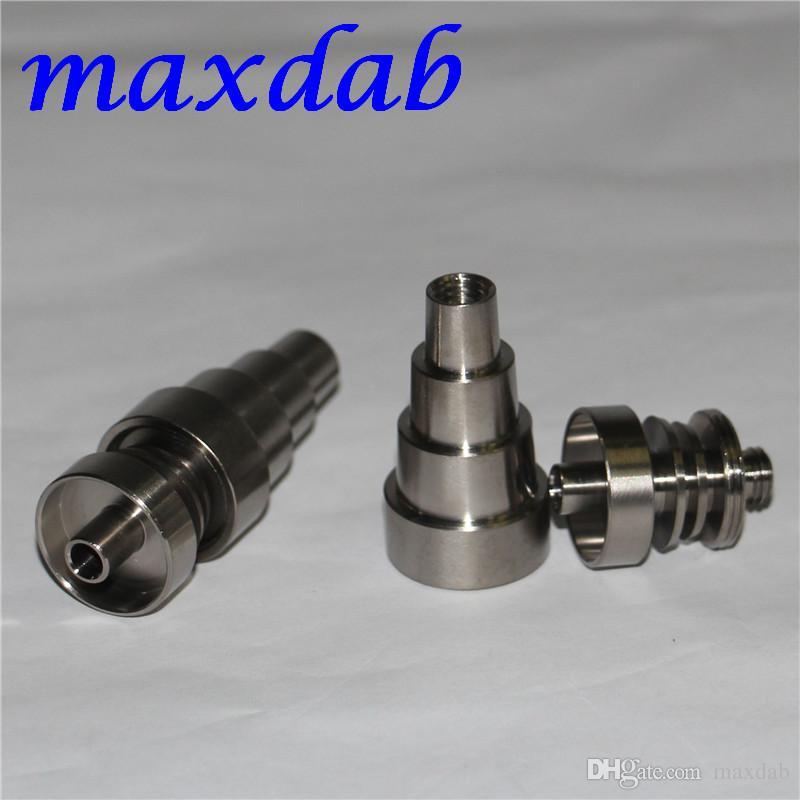Universal Domeless Titanium Nails 10mm 14mm 19mm articulação masculino e feminino Ti Nail GR2 Qualidade Terno para todos os bongos de vidro