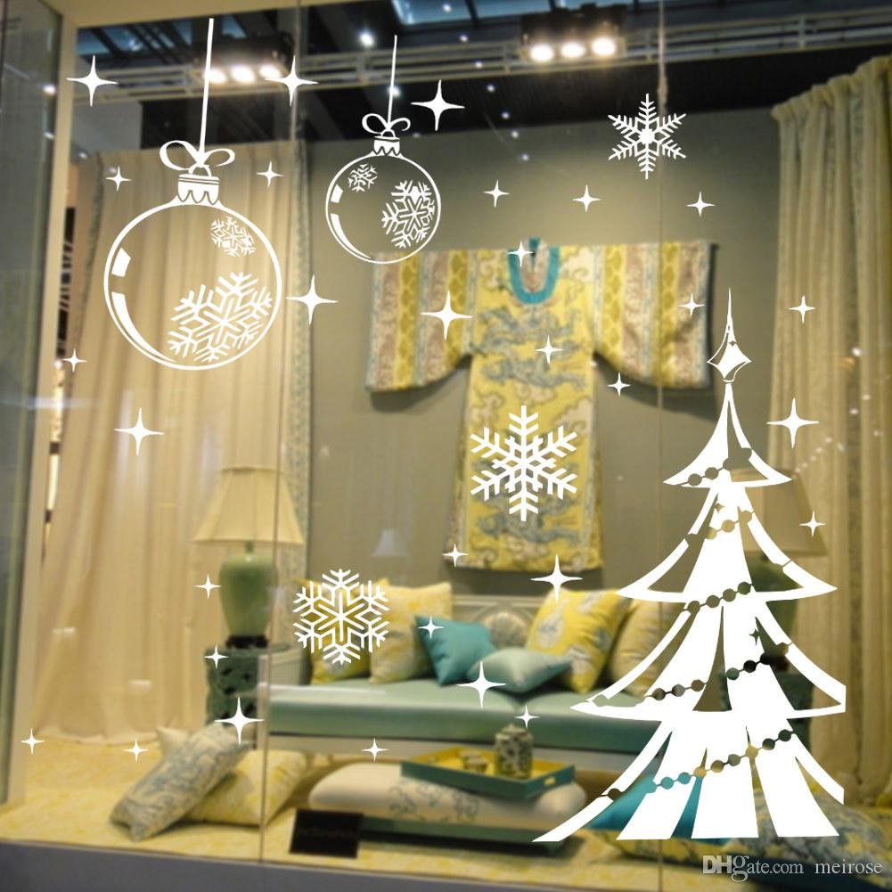 Chritmas Tree Wall Stickers for Christmas Decorative Wall Cecal Xmas Home Decoration Window Display Removable Wallpaper Product Code:90-2010