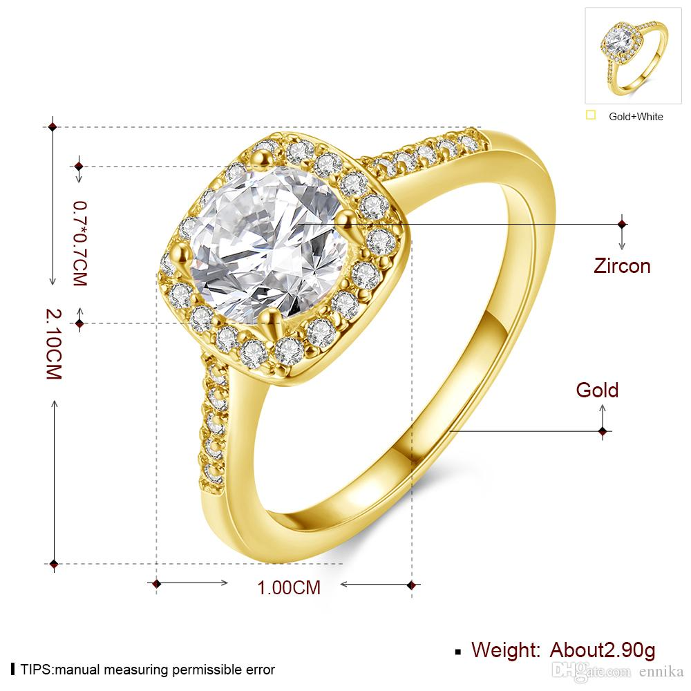 Luxury Top hot Sale Exquisite Swarovski Elements Crystal 18K Gold Plated lovely 3-Style Ring cute Austria Crystal R002
