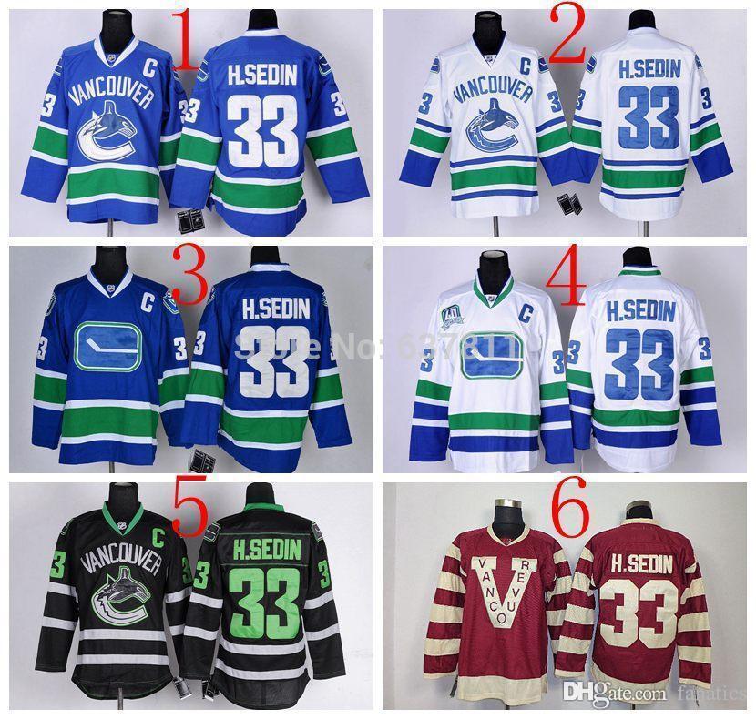 c patch nhl jersey 2017 henrik sedin vancouver canucks hockey jerseys 33 henrik sedin jersey home bl