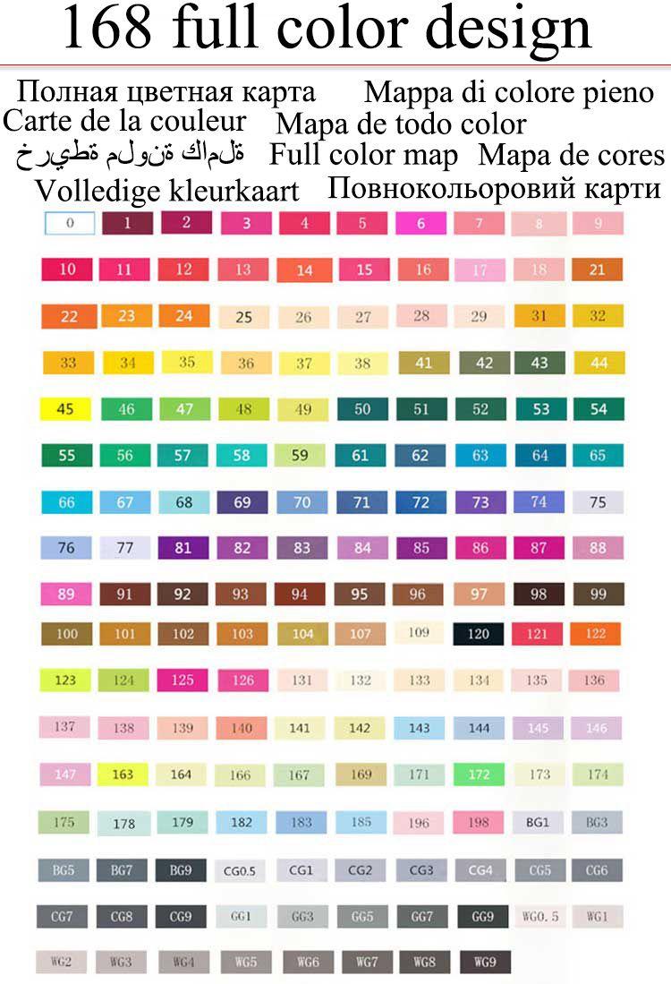80 cores da arte da pintura caneta esferográfica Álcool caneta Marcador caneta manga dos desenhos animados grafite esboço Dupla Cabeça Art copic marcadores set designers posca