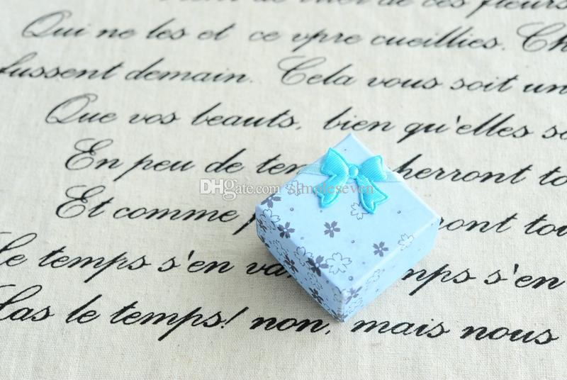 [Simple Seven] Cinq Couleurs Fleur Boîte à bijoux / festival solide boucle d'oreille Stud cas / Coloré Pendentif Affichage / Bijoux Coffret cadeau avec Velvet bowknot
