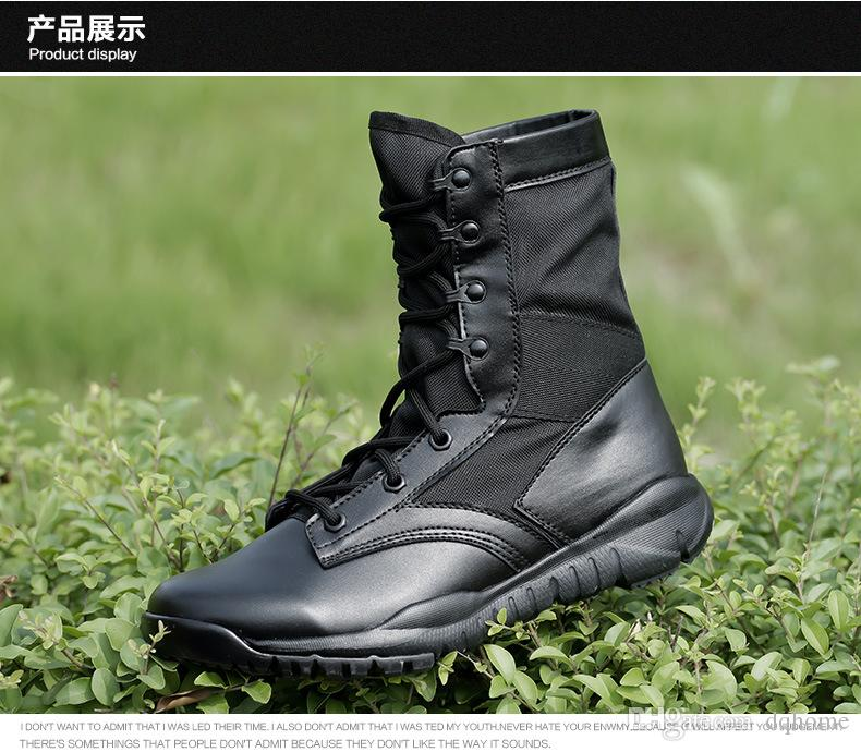 New Style Outdoor Sport Breathable Boots Men Women Outdoor Military Addictive Sport Running Shoe Military Tactical Combat Martin Boots