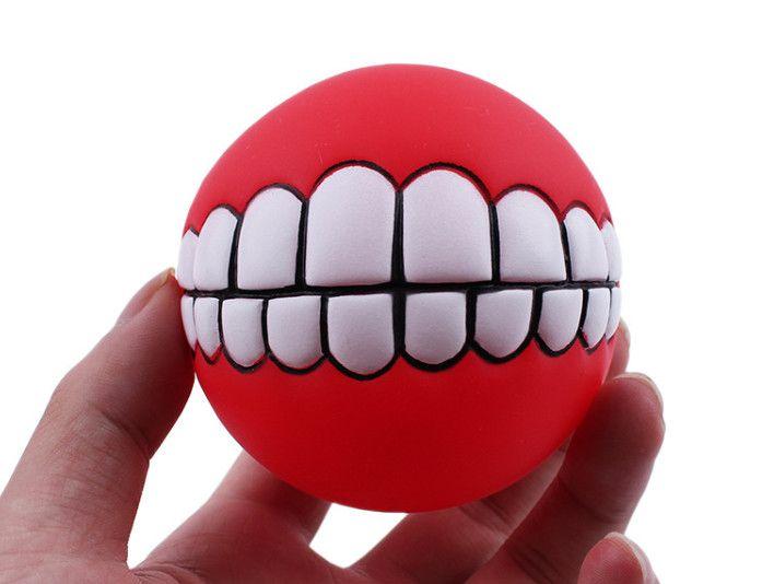 Livraison gratuite épais vinyle son résistant à la morsure chien chien Speelgoed dents balle chien chien de formation jouets /