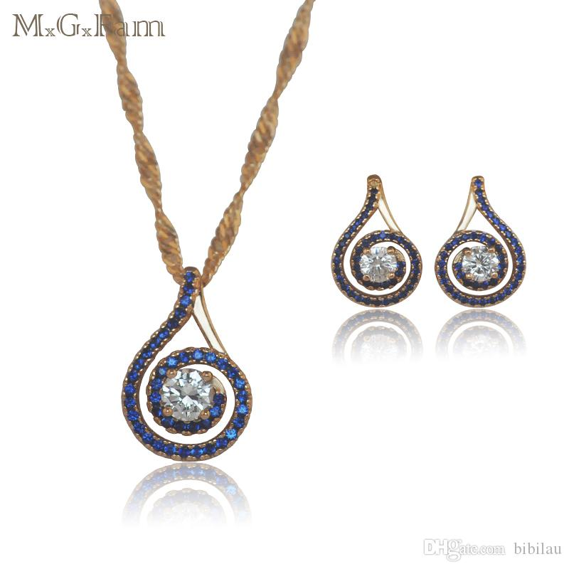 multi gold diamond earrings white drop hallmarked blue stone product
