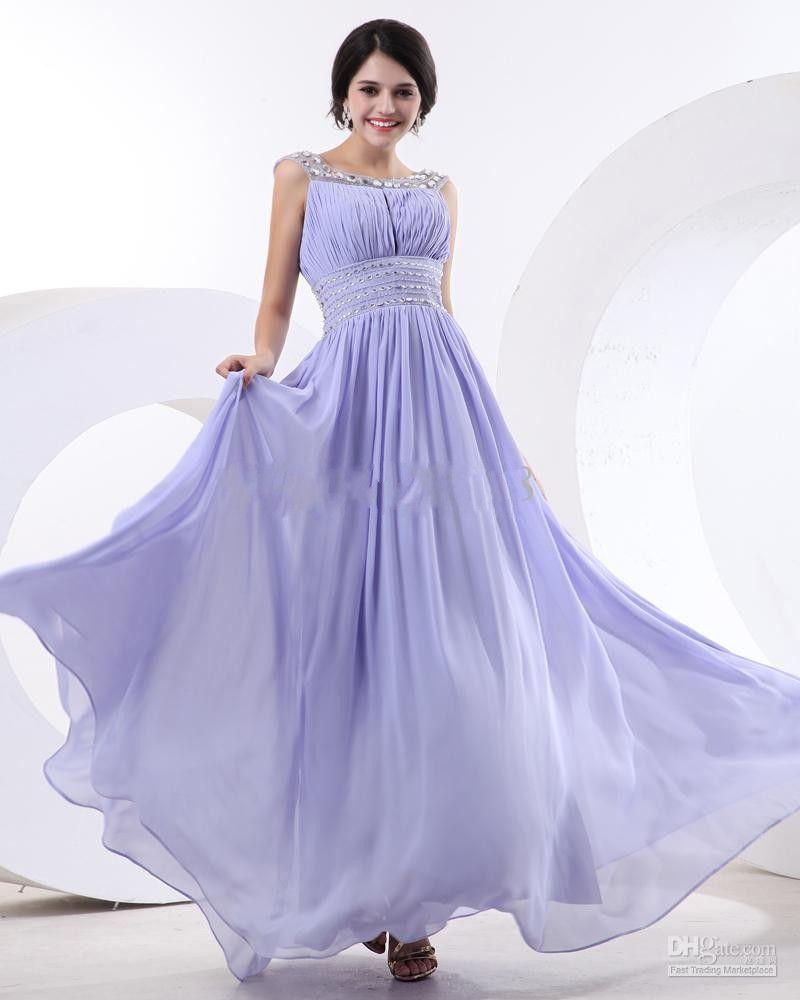 Cheap High Quality Chiffon Custom Design New Style A Line Lilac ...