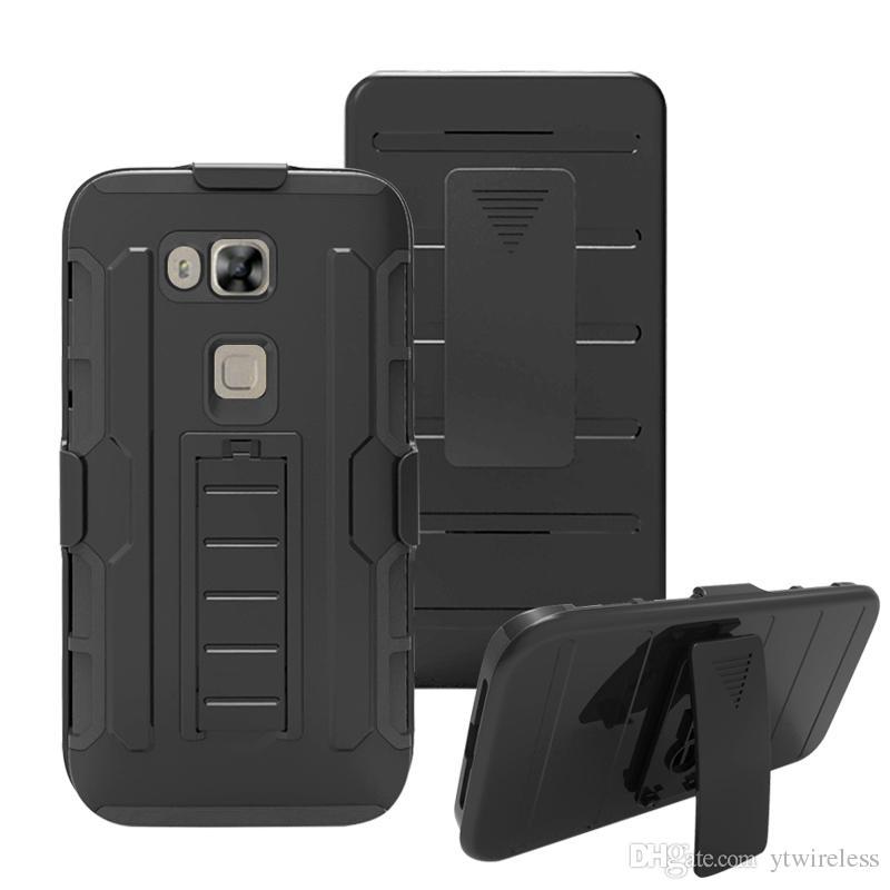 Para iPhone 8 Plus X 7 6 5SE 5C 4S Venta caliente Clip de cinturón duro Contraportada Defender Kickstand Hybrid Combo Holster Case