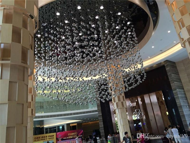 Contemporary Luxury Crystal Glass Bubble Suspension Lights Glass Bubble Leucos Murano Due by Patrick Jouin Project LED Light Fittings