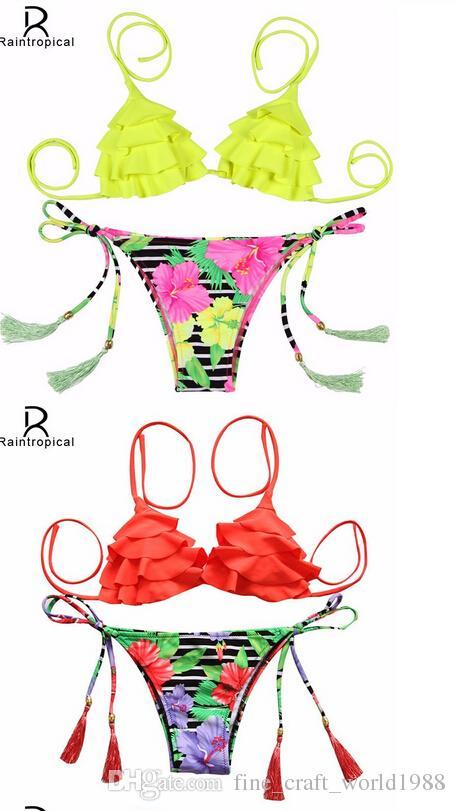 AAA New Mini Sexy Micro Bikini Brazilian Swimsuit Women Swimwear Bikini Set Floral Top Swimsuits Bathing Suit Maillot De Bain