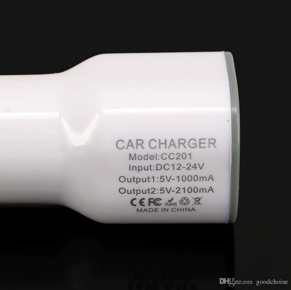 HTC 스마트 폰의 USB 장치에 대한 Remax의의 USB 차량용 충전기 CC-201 USB 포트 충전기 2.1A 출력 휴대용 전원 어댑터