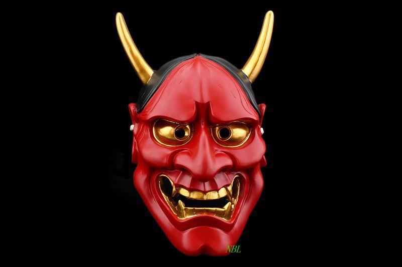 CS Protección Paintball Airsoft Japonés Prajnaparamita Noah Máscaras es disponibles Demon Omen Kabuki Horror Devil Masks Envío gratis