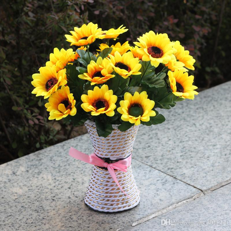2018 artificial sunflowers decoration silk cloth sun flower home 2018 artificial sunflowers decoration silk cloth sun flower home display yellow artificial flowers for wedding party decoration from wei201211 mightylinksfo