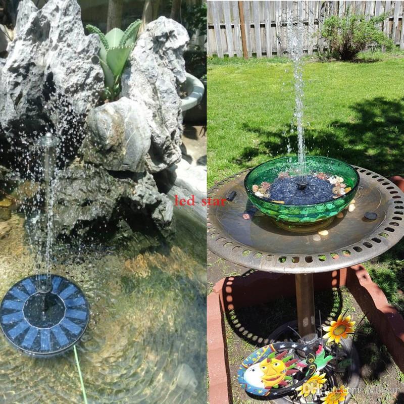 Neue Solarwasserpumpe Power Panel Kit Brunnen Pool Gartenteich Tauchbewässerung Display mit Englisch Manaul