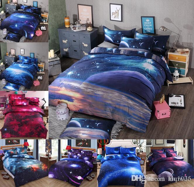 3d Galaxy Bedding Sets Universe Outer Space Themed