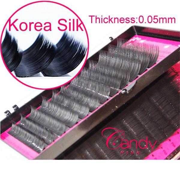 thickness 0.05mm Individual Eyelash Extension False Eyelashes Individual Eyelashes Makeup Tool Korea silk J B C D Curl 8-15mm