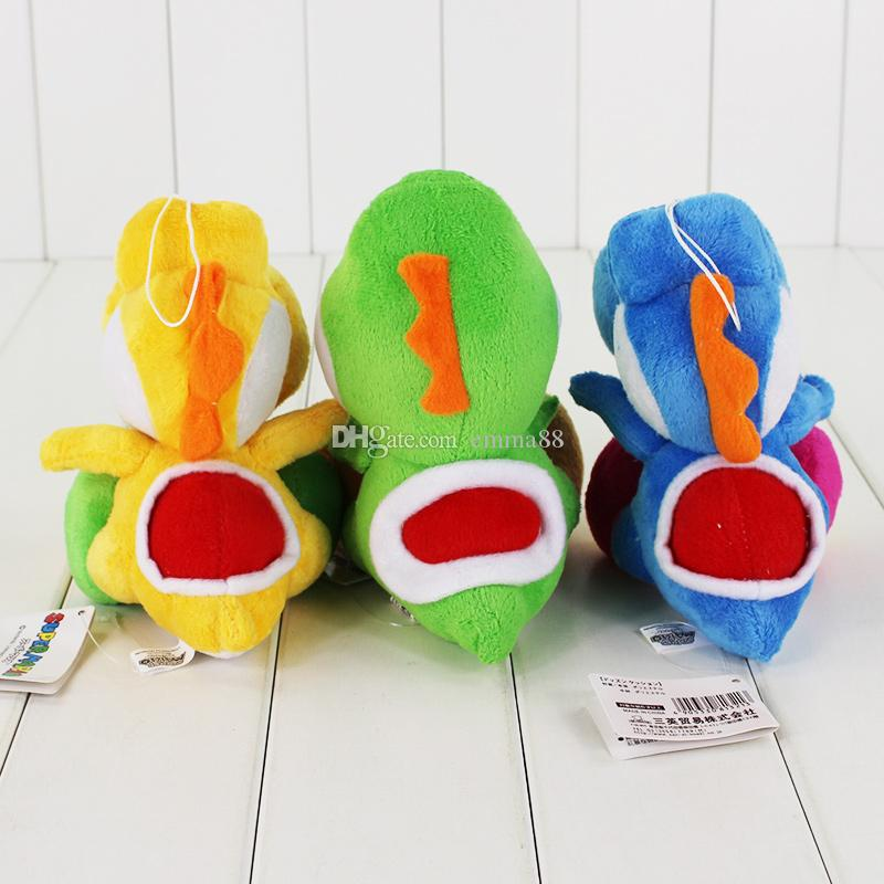 18cm 3 Styles Super Mario Yoshi Plush Toy Soft Stuffed Doll Toy for kids gift toy EMS