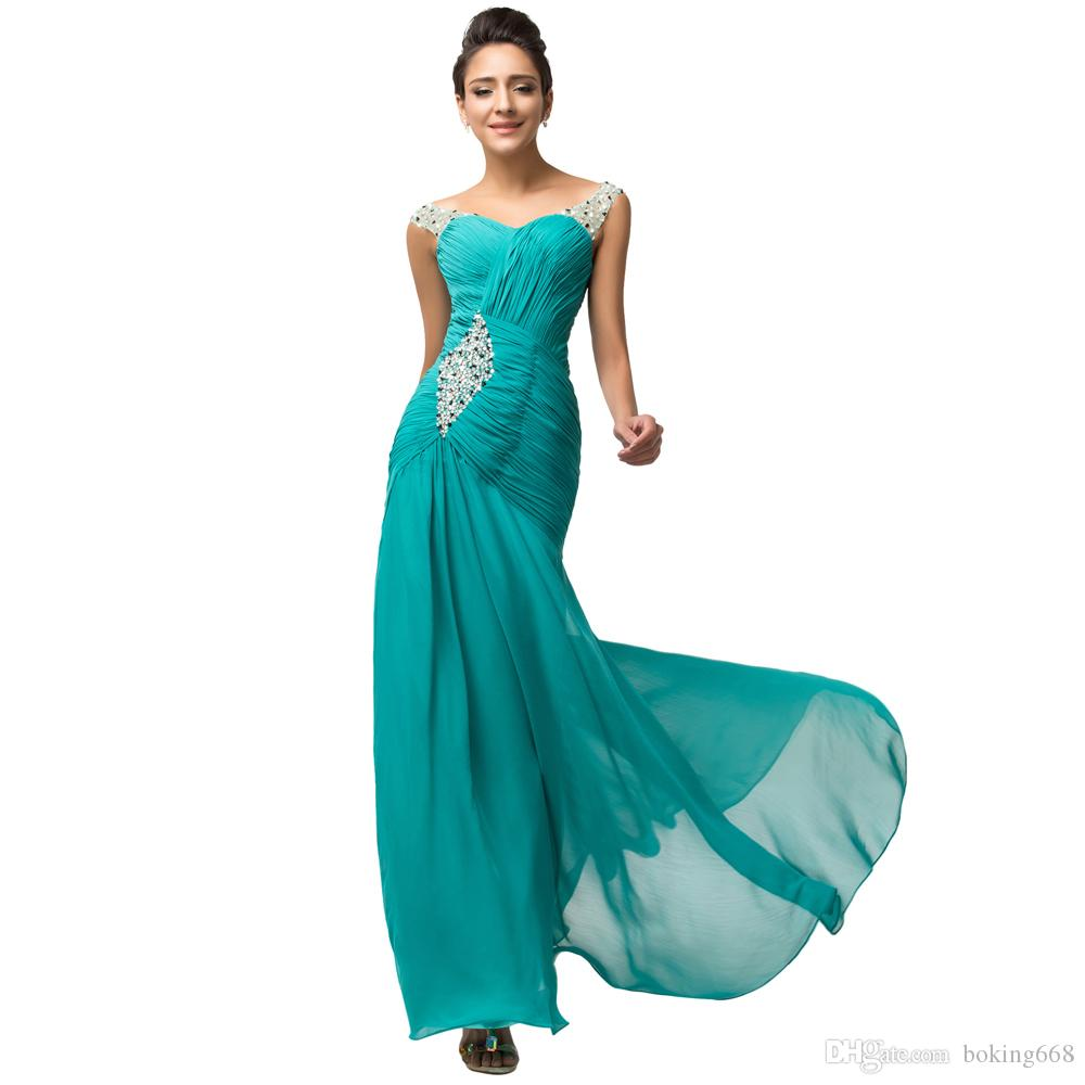 Green turquoise prom dresses photo