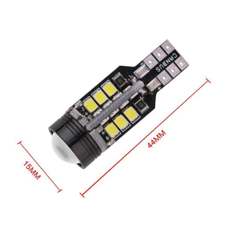 2x T15 White Led 24+1 COB LED Bulb Canbus DC 12V 2835 SMD Light Lamp Car Auto Reading Lights Bulb Reverse Backup Lights Tail Light