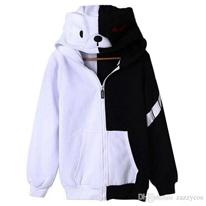 Hoodie do monokuma de Cosplay do urso branco preto de Danganronpa