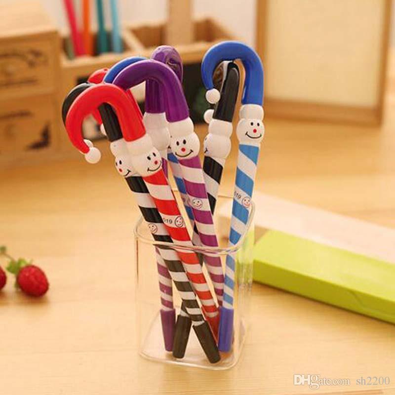 Envío gratis 20 unids / lote azul tinta plumas navidad muñeco de nieve bolígrafo paraguas lindo suministros de oficina de la escuela Papelaria