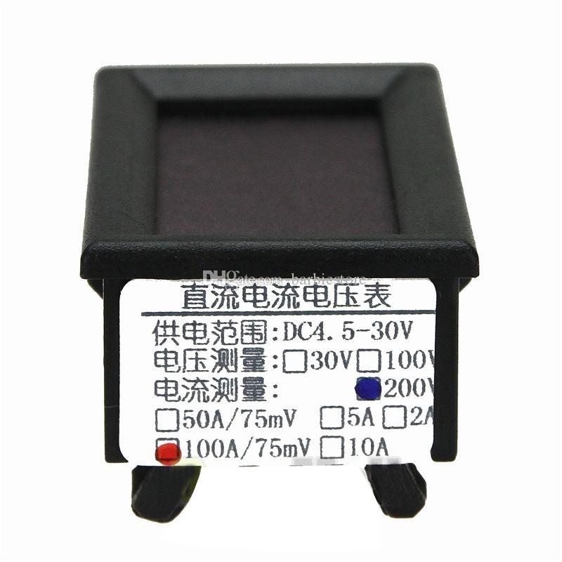 Dijital Voltmetre Ampermetre DC 200 V 100A LED Amp Volt Metre + Akım Şant B00327