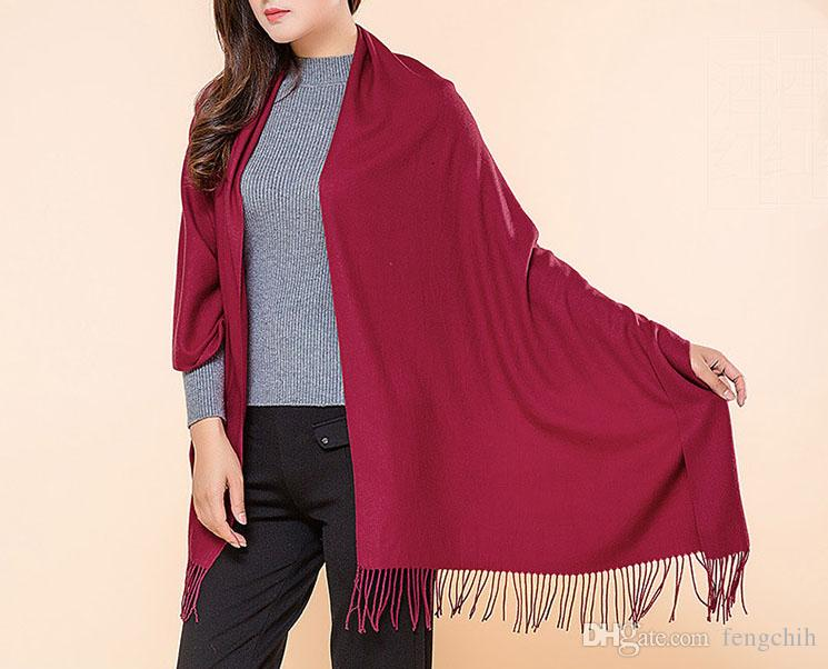 Multi Color Wool Scarf Mix Colours 17 Kinds Of Color And Polyester And Cotton Muffler Chrismas Gift 180*70CM Bandeles