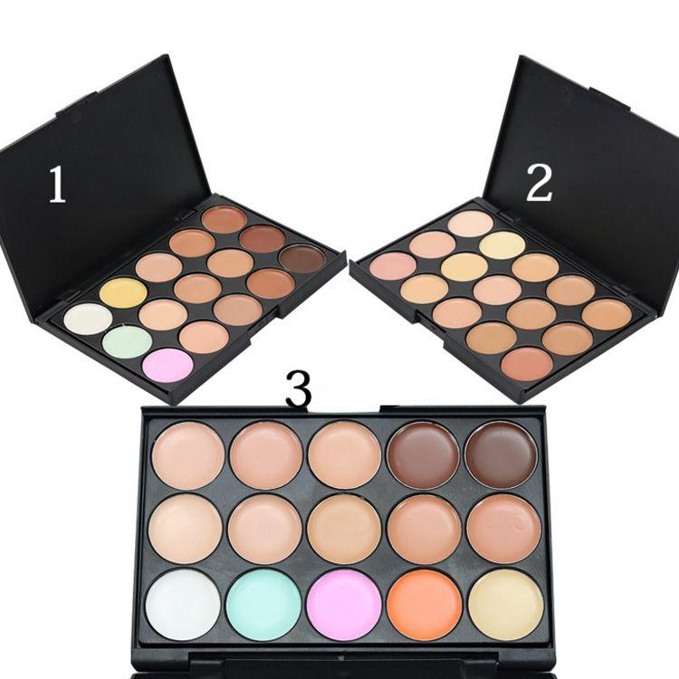 Best Quality Professional 15 Colors Concealer Foundation Contour Face Cream  Makeup Palette Pro Tool for Salon Party Wedding Daily
