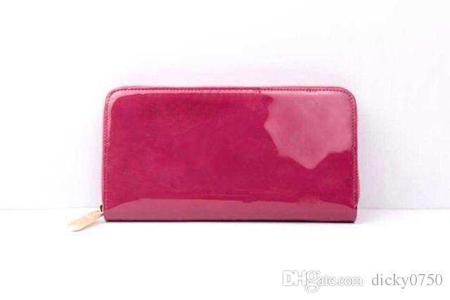 Toptan Rugan tırmanmak uzun cüzdan çok renkli Moda yüksek kaliteli orijinal kutu bozuk para cüzdanı kadınlar klasik fermuar cebi lüks