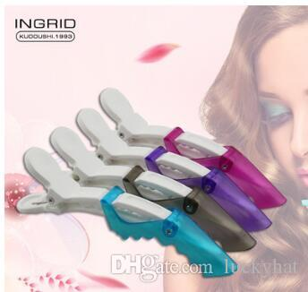 11.5cm Professional hair clips mix color Scrub alligator clip Partition Crane mouth clip Positioning clip Hair Products Hair pins