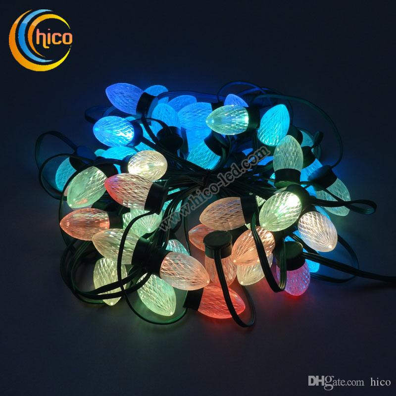 projector christmas led string light christmas lights party light with ic ws2811 dc12v waterproof ip68 wedding decoration outdoor led christmas lights - Led Projector Christmas Lights