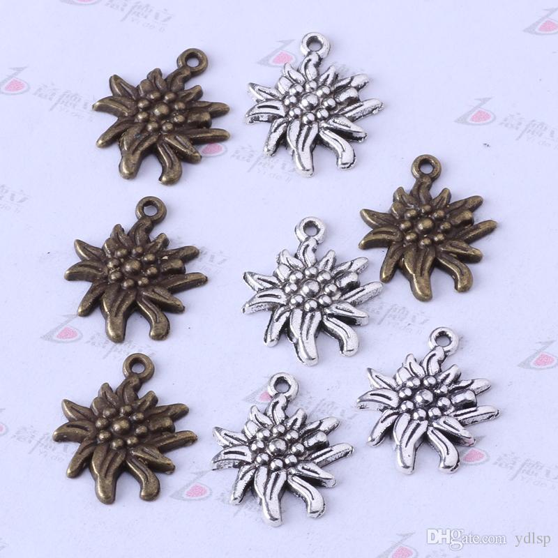 Los colgantes de plata / bronce antiguos de Daisy encantan las pulseras o el collar DIY joyería de la aleación / 3357z