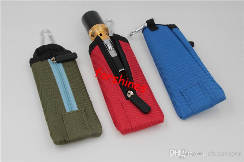 usa Vaporizer Holder Keychain Carry Pouch ecig electronic cigarette Carrying Bag for ego-t ego-w ego-twist X6 e-cig