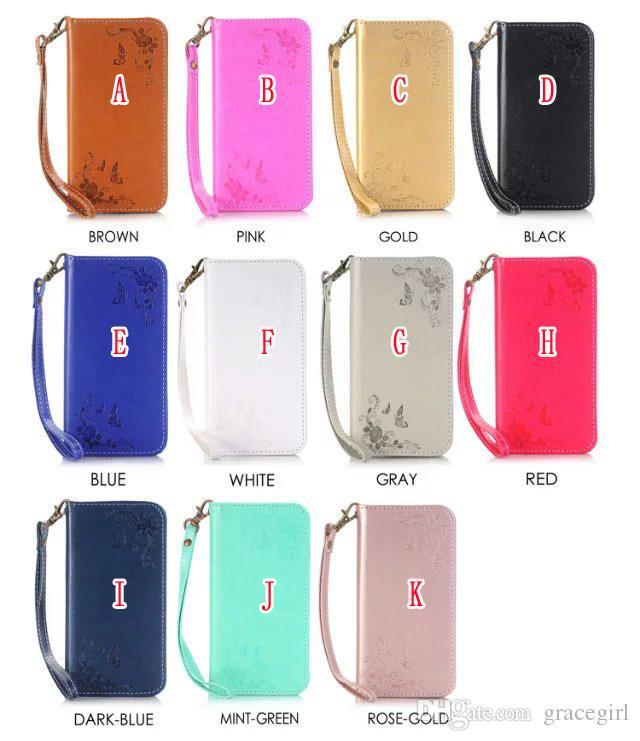 Магнитный сосать флип кожаный чехол для Samsung Galaxy S7 S6 Edge Plus S4 S5 NOTE4 NOTE5 Bling роскошный цветок ремешок бумажник телефон чехол 1 шт.