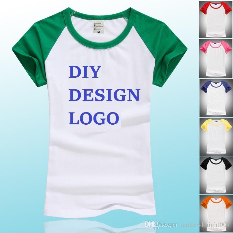 HOT Fashion Design Women Men Clothes T Shirts DIY Pirnt Your Design Logo Custom  Made Costume Good Quality Cotton Long Short Sleeve Tops Funny T Shirts Shirt  ... 1228c00f2