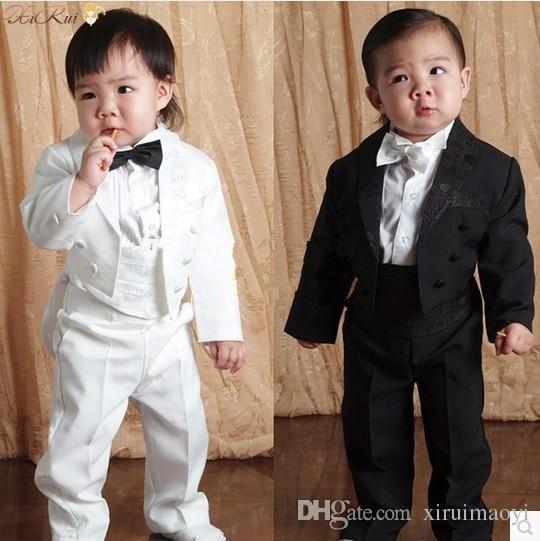Baby Boy Five комплект одежды Детский смокинг детский формальный свадебный костюм Baby Boys Blazers костюмы черный белый 1-4 года