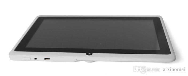 2019 tabletten wifi 7 zoll 512 MB RAM 8 GB ROM Allwinner A33 Quad Core Android 4.4 Kapazitiver Tablet PC Dual Kamera Q88 A-7PB