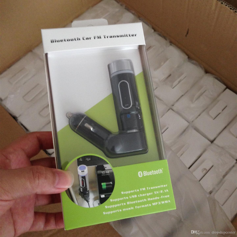 Fm28b Bluetooth Car Fm Transmitter Modulator Mp3 Music Player Three Stage 9v Handsfree With Usb Sd Card Reader Mmc Slot Remote Controller Led Display Auto