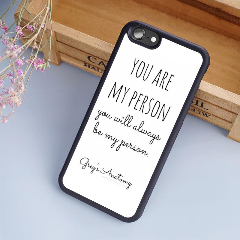 Grey S Anatomy You Are My Person Cellphone Cases For Iphone 6 6s ...