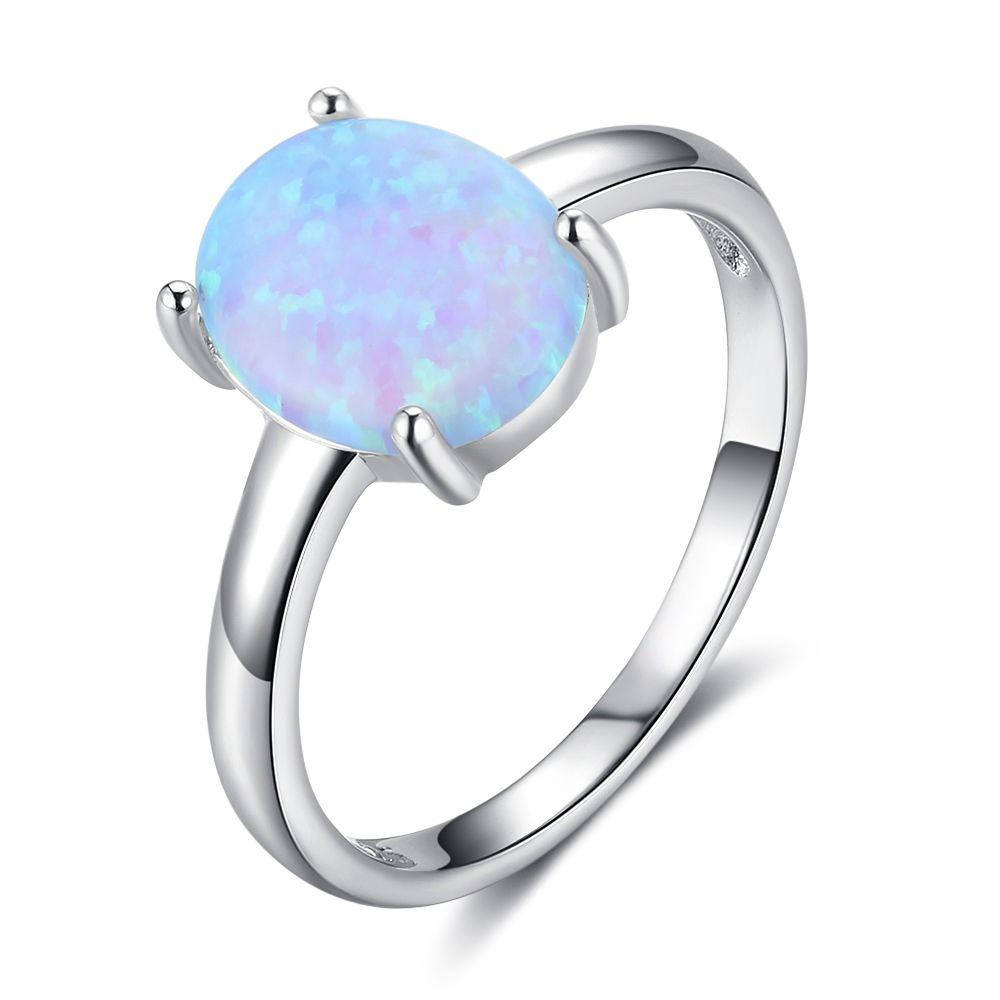 Fine Jewelry Simulated Blue Opal Sterling Silver Cross Ring 0AVpnDd