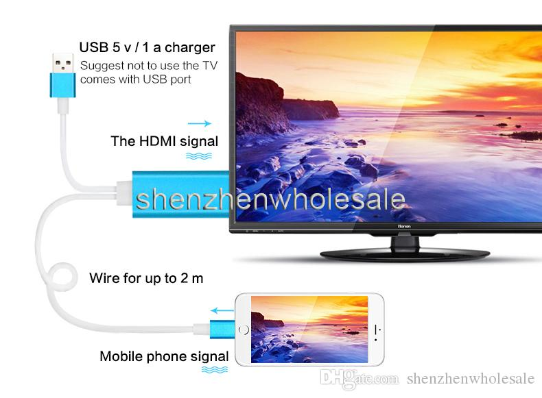 Dock to HDMI HDTV TV Adapter USB Cable 1080P for Smart Phone Cell Phone HDMI Cable