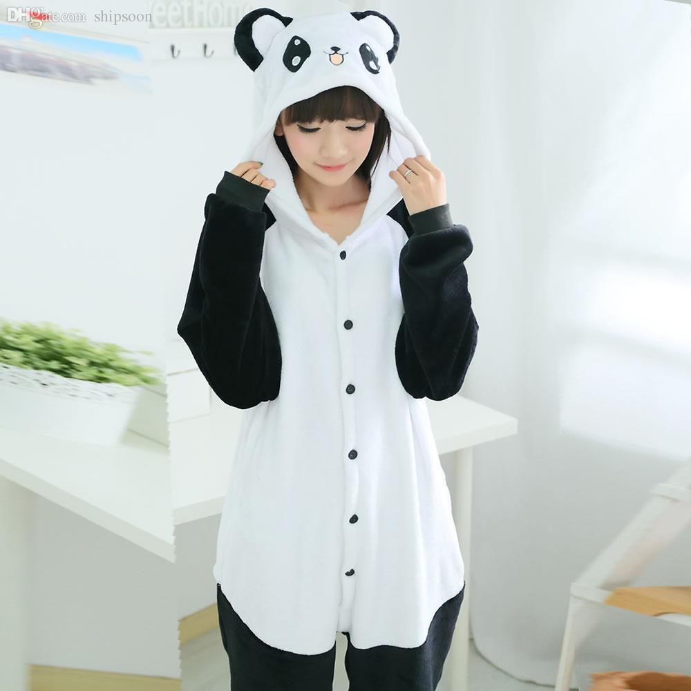 44f39722d 2019 Wholesale Top Quality Cartoon New Flannel Pajamas Panda Pajama ...
